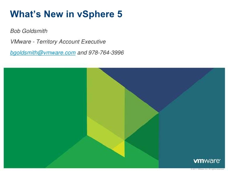 Whats new v sphere 5