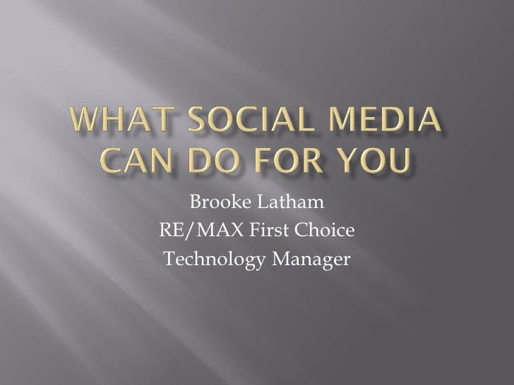 Brooke LathamRE/MAX First ChoiceTechnology Manager