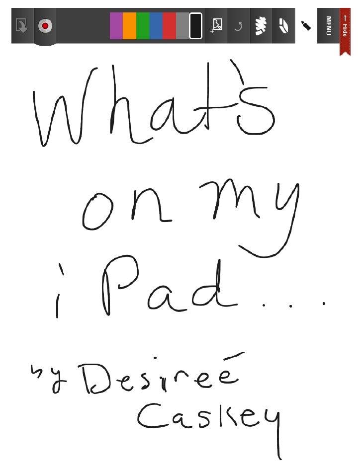 Whats on my ipad