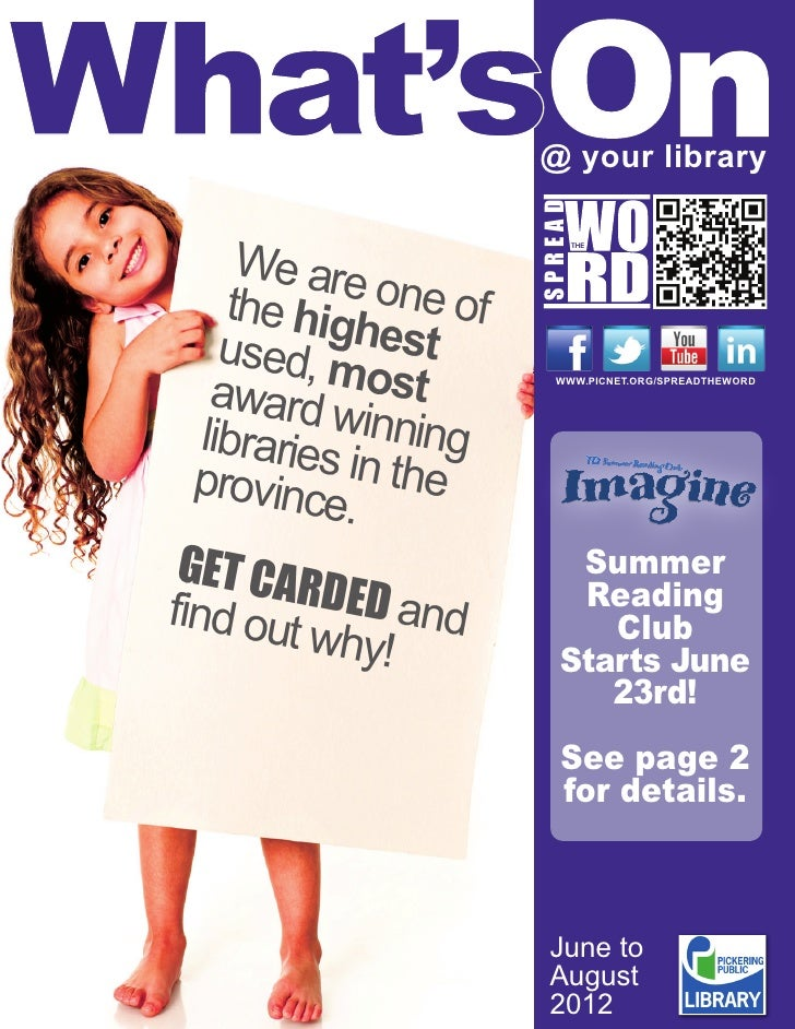 Pickering Public Library - What's On for Summer 2012