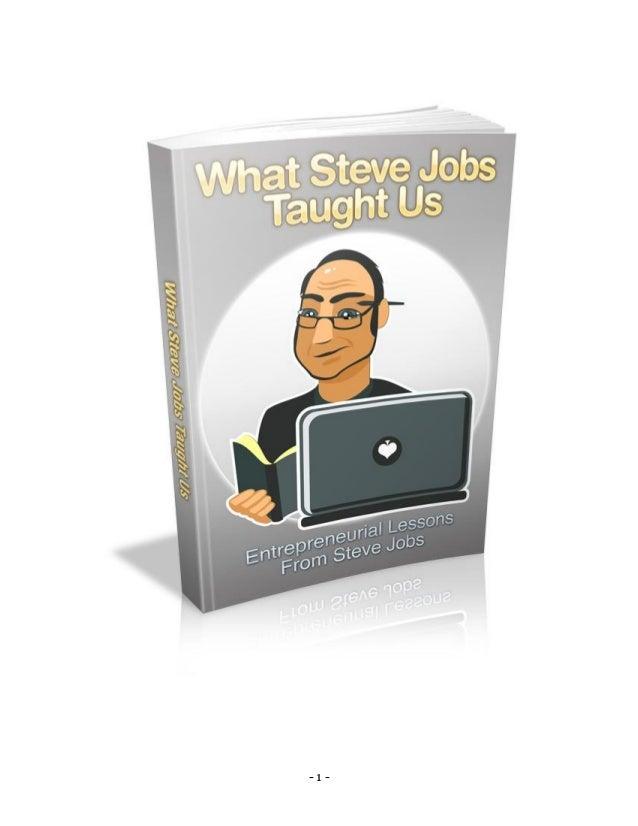 What Steve Jobs Taught Us