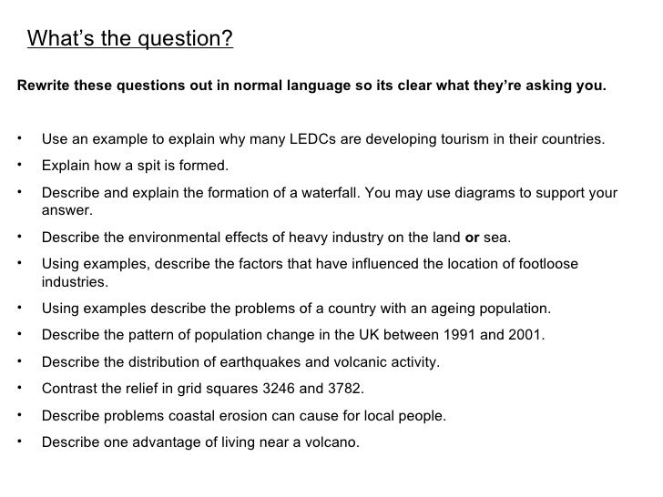 <ul><li>Rewrite these questions out in normal language so its clear what they're asking you. </li></ul><ul><li>Use an exam...