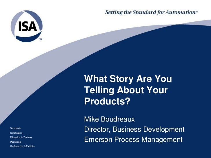 What story are you telling about your products?
