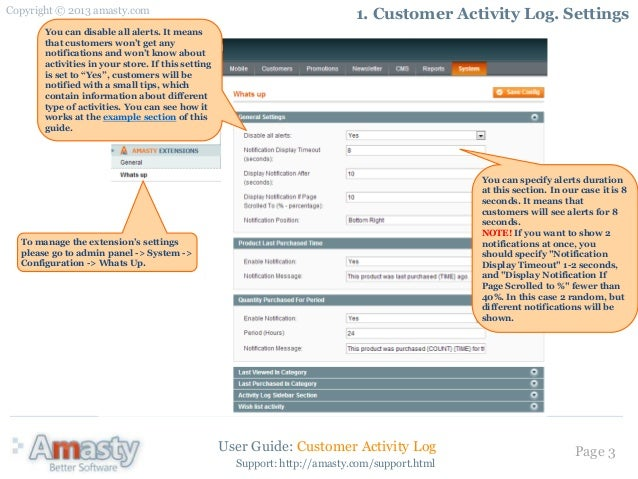Customer Activity Log: Magento Extension by Amasty. User Guide.