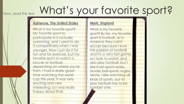 essay about your favorite sport