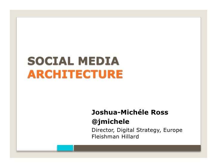 What's Your Social Media Architecture by Josh Ross, Fleishman-Hillard