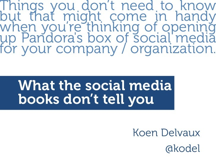 What the books about social media don't tell you