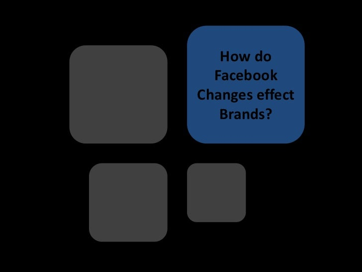 How do  FacebookChanges effect   Brands?