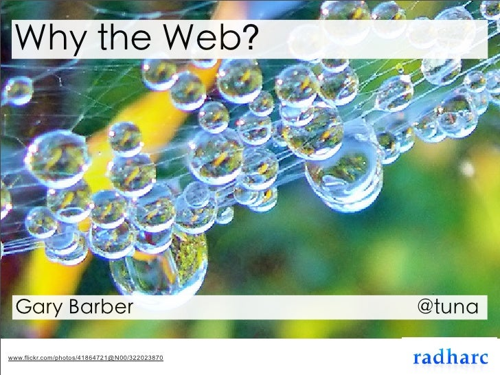 Why the Web