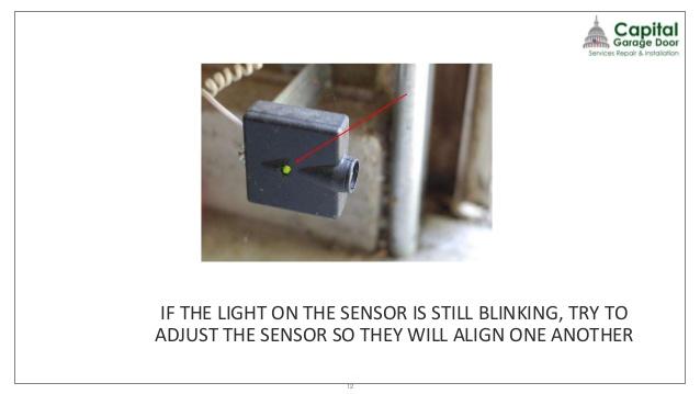 garage door sensors won't align 2