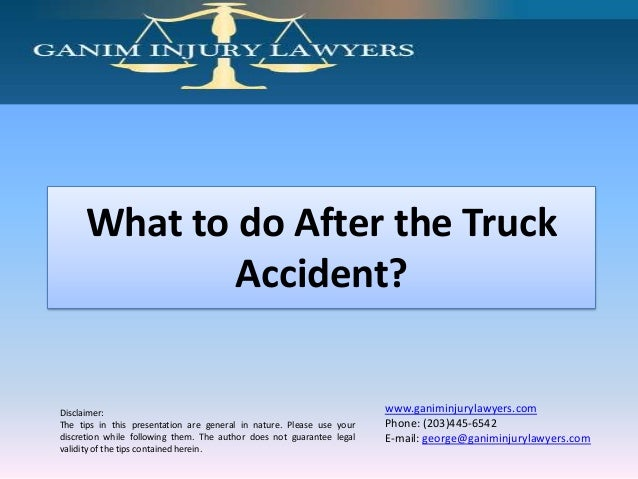 What to do After the Truck Accident?