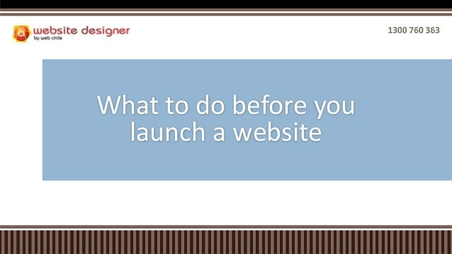 What to do before you launch a website