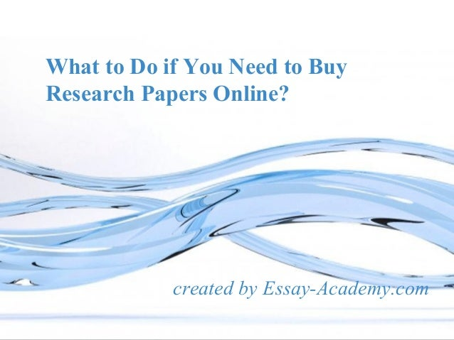 Research papers online