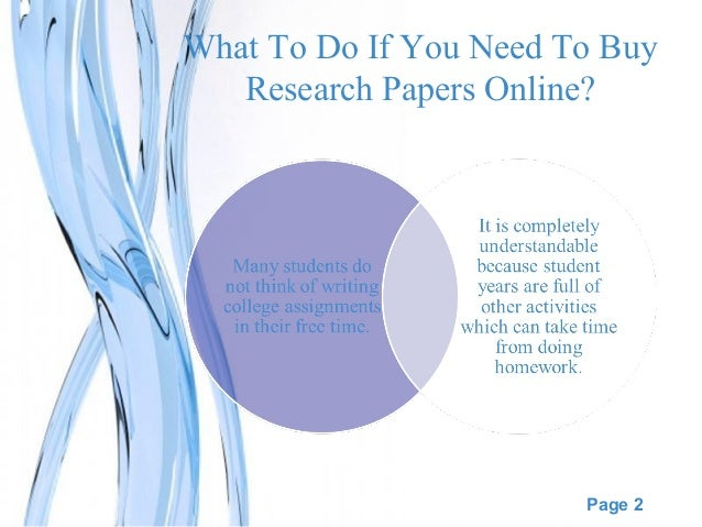 Why buy research papers online?