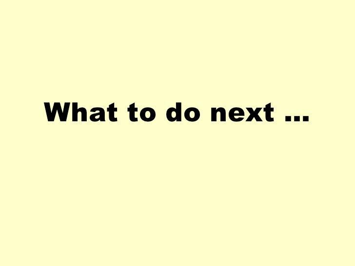 What to do next   dyslexia