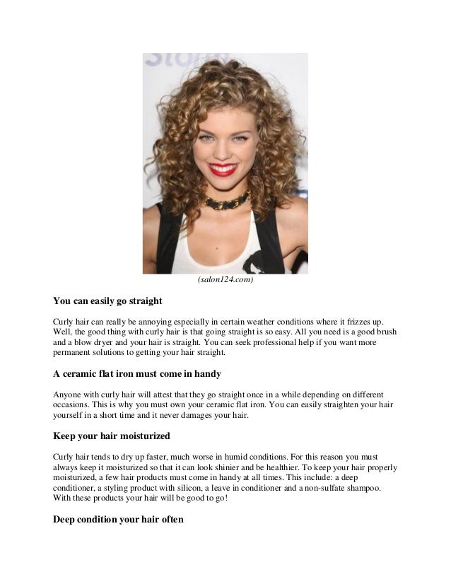 What to do to naturally curly hair