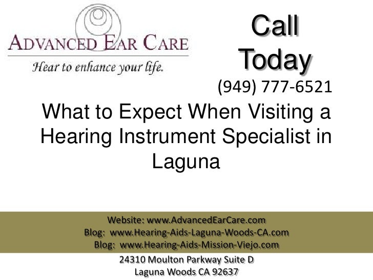 What to Expect When Visiting a Hearing Instrument Specialist in Laguna?