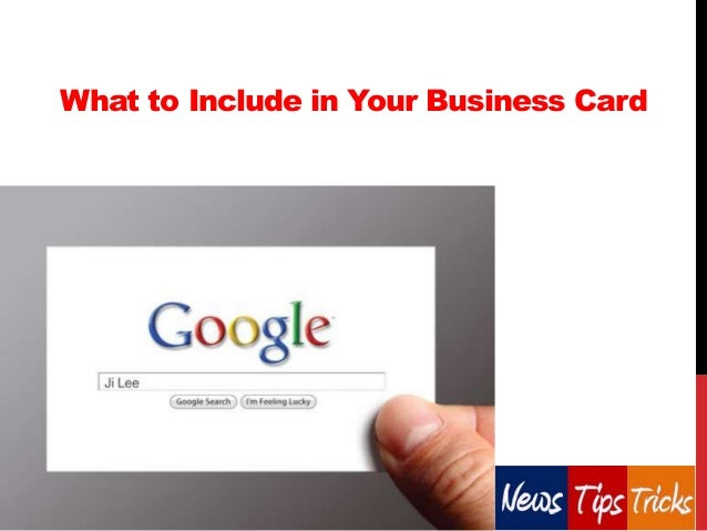 What to Include in Your Business Card