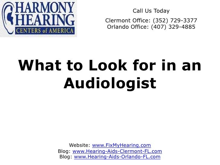 What to Look for in an Audiologist