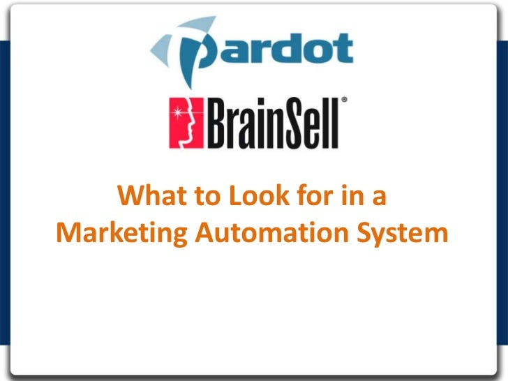 What to Look for in a Marketing Automation System