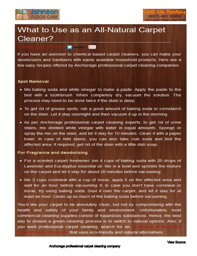 Anchorage professional carpet cleaning companyView Source