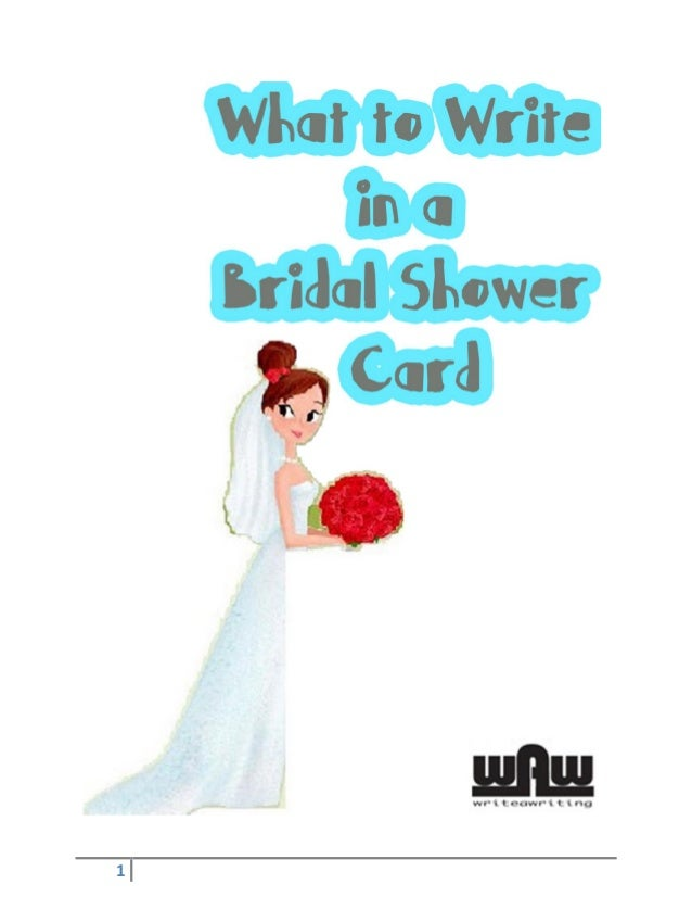 What to write in a bridal shower card kV5TskbX