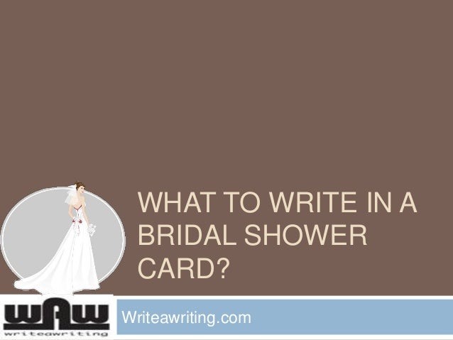What to Write in a Bridal Shower Card?