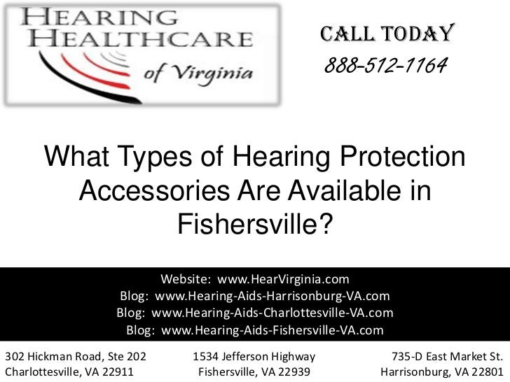 What types of hearing protection accessories are available in fishersville va