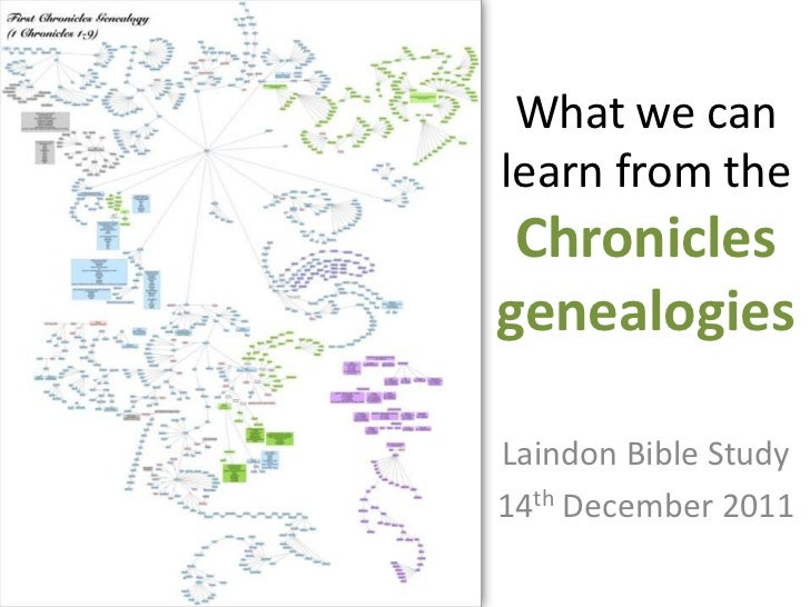 What we can learn from the chronicles genealogies