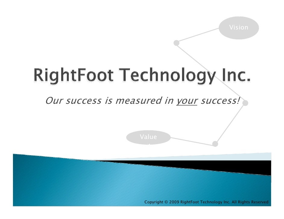 Vision     Our success is measured in your success!                      Value                         Copyright © 2009 Ri...