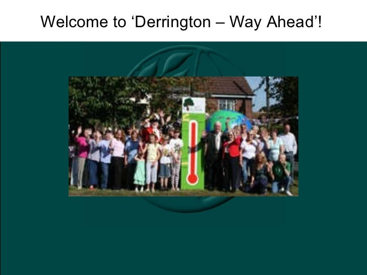 Welcome to 'Derrington – Way Ahead'!