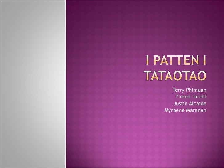 I Patten I Tataotao