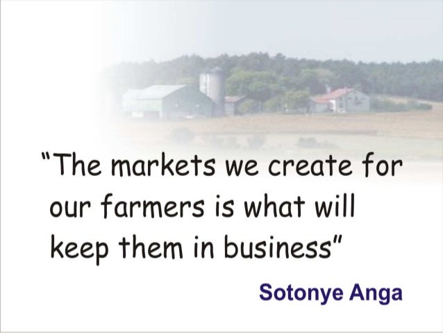 What will keep farmers in business by sotonye anga