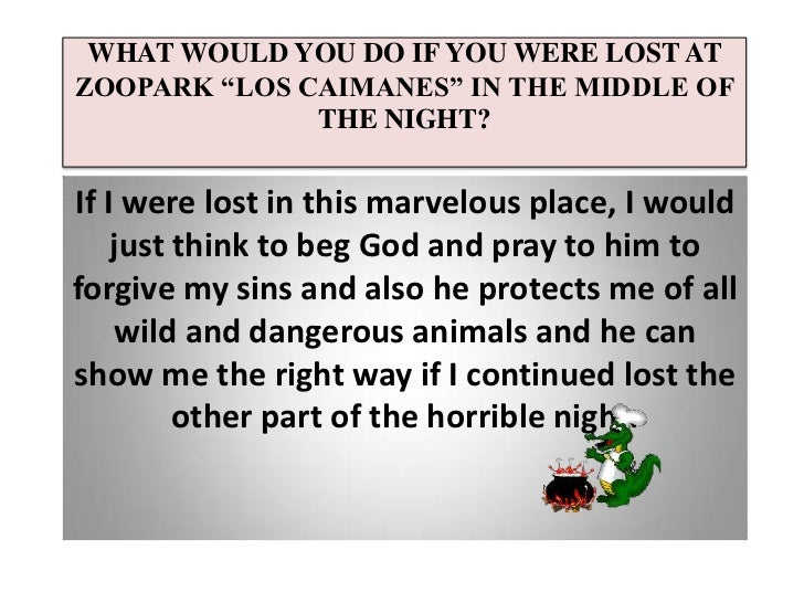What would you do if you were lost