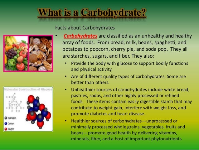 What are some carbohydrate facts?