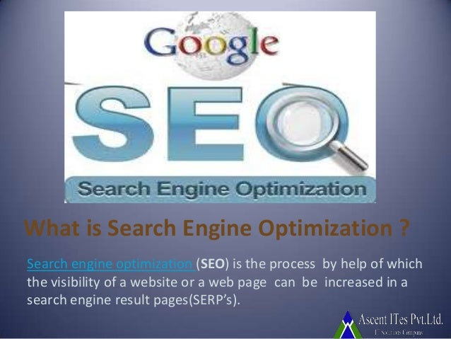 What is Search Engine Optimization ? Search engine optimization (SEO) is the process by help of which the visibility of a ...