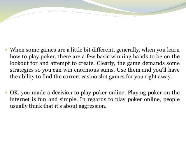 casino learn slot winning