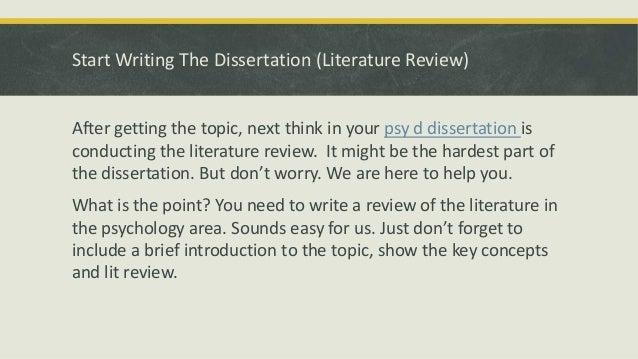 Dissertation psychology phd