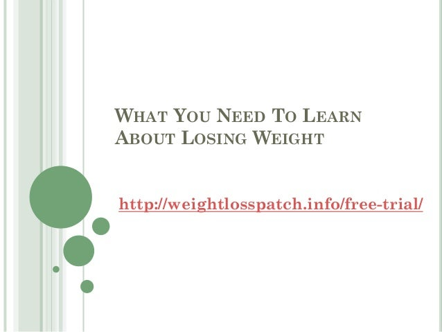What you need to learn about losing weight