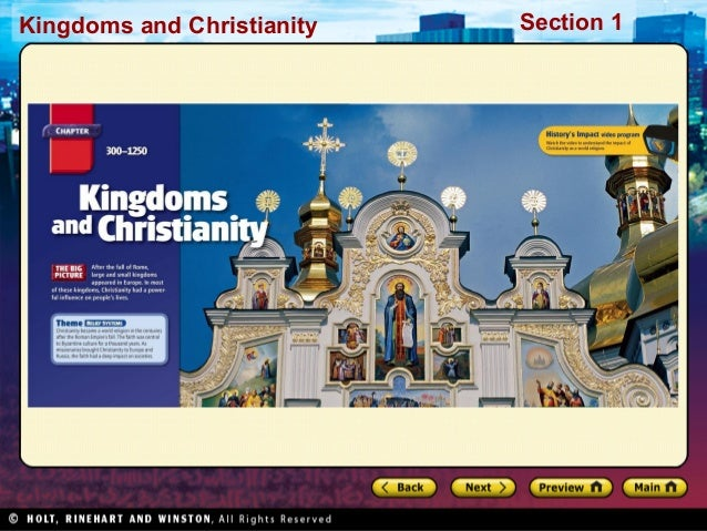 Kingdoms and Christianity  Section 1