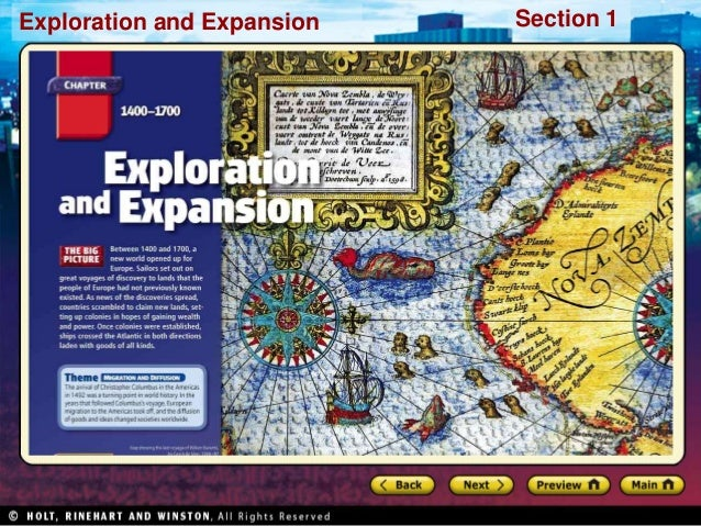 Exploration and Expansion Section 1