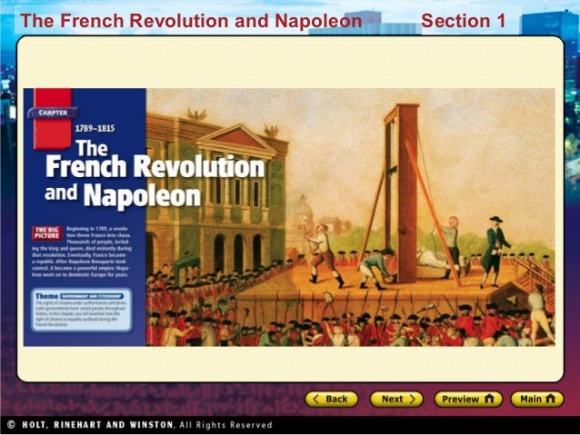 The French Revolution and Napoleon Section 1