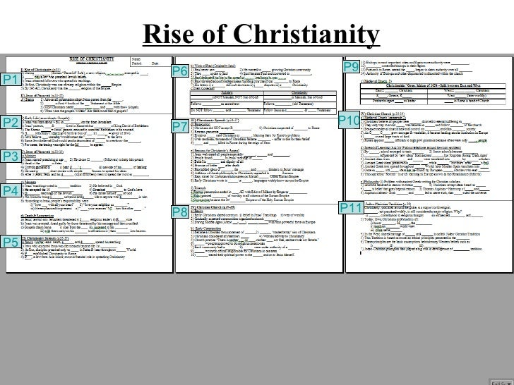 Rise of Christianity       P6            P9P1P2                   P10       P7P3P4       P8            P11P5