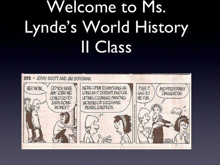 Welcome to Ms. Lynde's World History II Class
