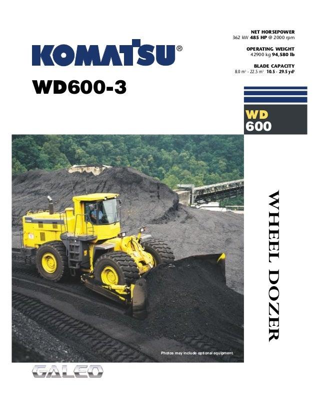 Wheel Dozers - WD600-3