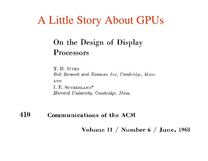 A Little Story About GPUs