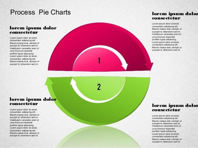 Process Pie Charts lorem ipsum dolor consectetur Lorem ipsum dolor sit amet, consectetur adipiscing elit. Mauris massa era...
