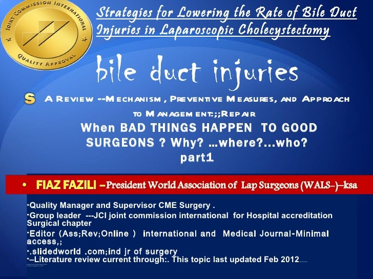 bile duct injury  laparoscopic cholecystectomy  detectio