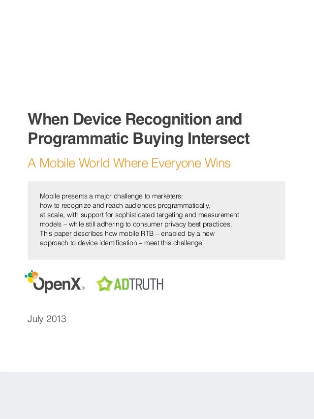 When Device Recognitio an Programmatic Buying Intersect