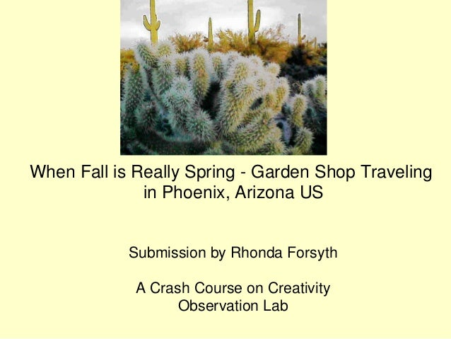 When Fall is Really Spring - Garden Shop Traveling              in Phoenix, Arizona US            Submission by Rhonda For...
